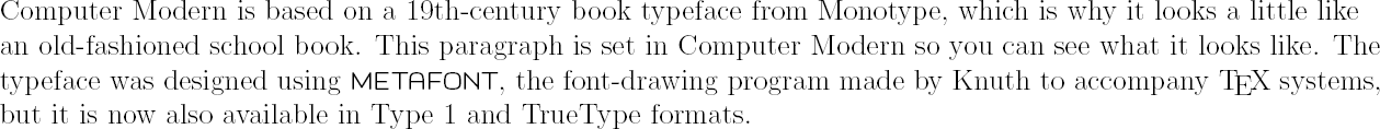 Formatting information: Chapter 8 — Fonts and layouts